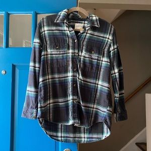 American Eagle Oversized Flannel Shirt Sz S